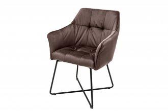 Jídelní židle LOFT taupe hnědá samet