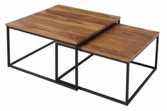 2SET konferenční stolek ELEMENTS II masiv sheesham