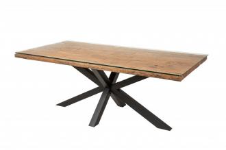 Jídelní stůl BARRACUDA GALAXIE 200 CM masiv sálové dřevo
