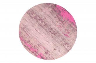 Kulatý koberec MODERN ART 150 CM béžovo-růžový