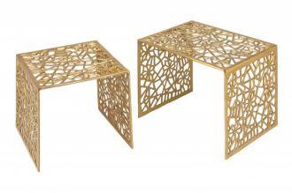 2SET konferenční stolek ABSTRACT zlatý