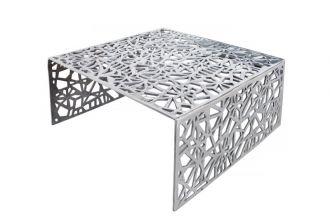 Konferenční stolek ABSTRACT 60 CM stříbrný