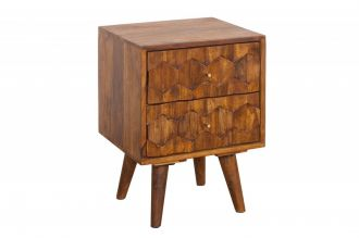 Noční stolek MYSTIC 40 CM masiv sheesham