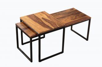 2SET konferenční stolek NOBILE masiv sheesham