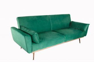 Pohovka BELLEZZA 210 CM smaragdově zelená rozkládací