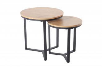 2SET odkládací stolek STUDIO dubový vzhled