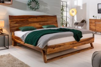Luxusní postel MAMMUT NATUR 180x200 CM masiv sheesham