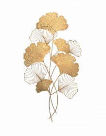 Nástěnná dekorace GINKGO 110 CM zlatá