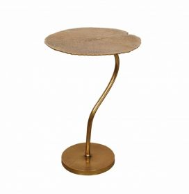 Odkládací stolek LEAF 59 CM zlatý
