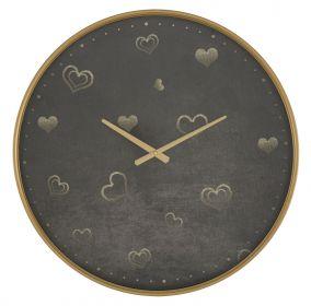Nástěnné hodiny GOLD HEART 60 CM
