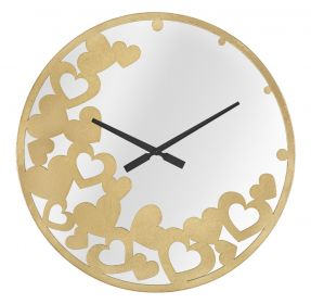 Nástěnné hodiny se zrcadlem GOLDYS 55 CM