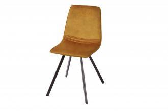 Židle AMSTERDAM tmavě žlutá samet