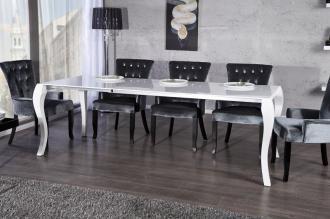 jídelní stůl BAROCCO LONG 170-230-WHITE rozkládací