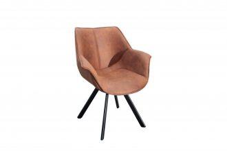 Židlo-křeslo DUTCH RETRO antik hnědé mikrovlákno