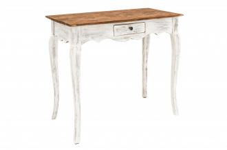 Odkládací stolek HEMINGWAY RETRO WHITE masiv mahagon