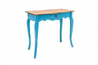 Odkládací stolek HEMINGWAY RETRO BLUE masiv mahagon
