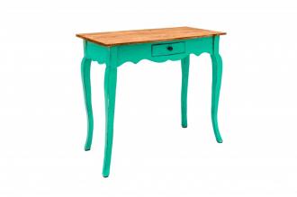 Odkládací stolek HEMINGWAY RETRO GREEN masiv mahagon