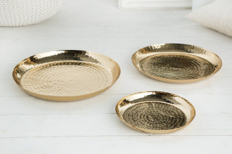 3SET dekorativní tác ORIENT GOLD