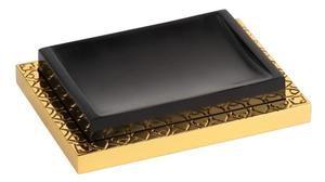 luxusní miska na mýdlo FRAME patinovaná mosaz