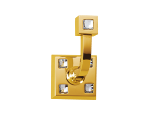 luxusní háček TRIA GOLD s potahem 24 kt zlata, krystaly