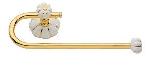 luxusní držák oblý NISA GOLD s potahem 24 kt zlata
