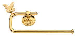luxusní držák oblý PAPILLON GOLD s potahem 24 kt zlata