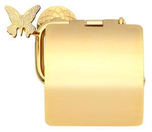 luxusní držák na toaletní papír PAPILLON GOLD s potahem 24 kt zlata