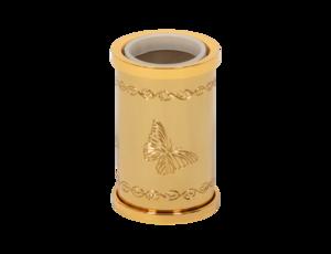 luxusní kelímek na kartáčky PAPILLON GOLD s potahem 24 kt zlata