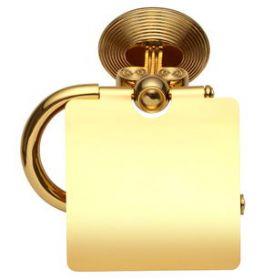 luxusní držák na toaletní papír  BUBBLE GOLD s potahem 24 kt zlata