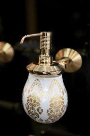 luxusní dávkovač mýdla BUBBLE patinovaná mosaz