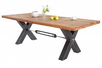Jídelní stůl THOR THICK wild oak 240CM masiv dub