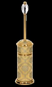 luxusní kartáč na toaletu DESENLI GOLD s potahem 24 kt zlata