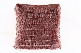 Polštář s třásněmi FRANSEN růžový