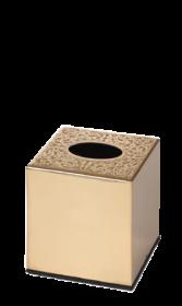 luxusní box na kapesníčky CONCHIGLIA GOLD s potahem 24 kt zlata