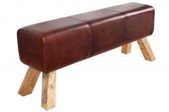 lavice BOCK 120CM pravá kůže