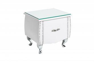 Noční stolek BAROCCO bílá