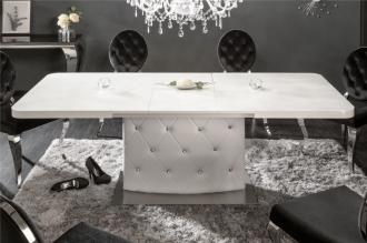Jídelní stůl CHESTERFIELD 160-200 CM rozkládací, bílý