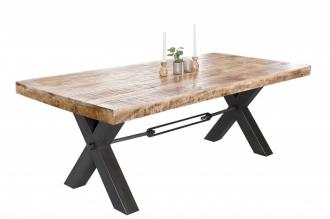 Jídelní stůl IRON CRAFT X 160 CM masiv mango NATURE