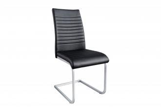 Jídelní židle LAZIO černá syntetická kůže