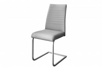 Jídelní židle LAZIO šedá syntetická kůže