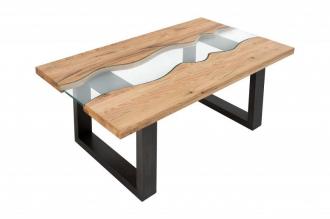 Konferenční stolek WAVE RIVER 115CM masiv dub