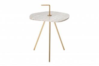 Odkládací stolek SIMPLY CLEVER 36/42 CM WHITE mramor