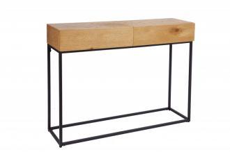 Konzolový stolek ELEMENTS-2 100 CM pravá dubová dýha, II. jakost