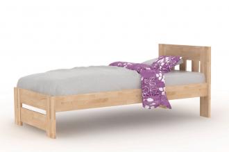 Buková postel BĚLA 90×200