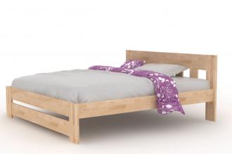 Buková postel BĚLA 180×200