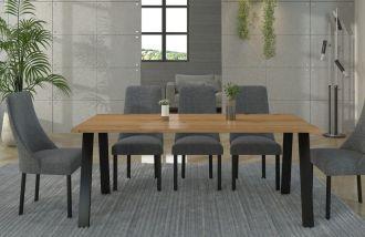 Jídelní stůl KOLINA 138x90 cm černá/artisan