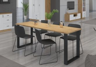 Jídelní stůl PILGRIM 138x90 cm černá/artisan