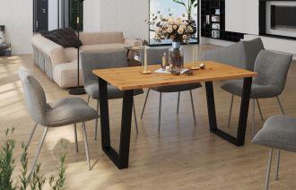 Jídelní stůl KAISARA 185x90 cm černá/artisan