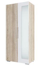 Šatní skříň 2D LAGUNA 2 dub sonoma/bílý lesk