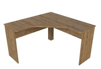 Pracovní stůl rohový HARVARD dub hickory